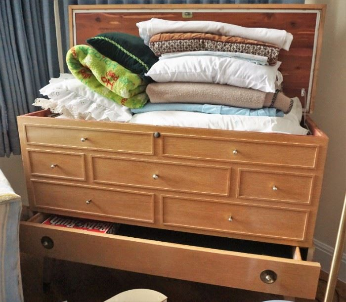 Cedar lined chest with blanket drawer