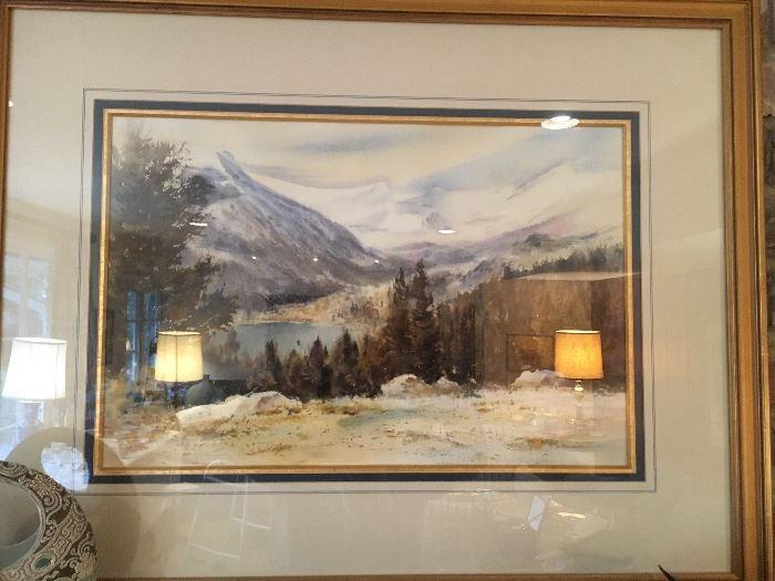 Bill Stracener painting