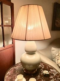 We have a PAIR of CHRISTOPHER SPITZMILLER Celadon lamps...look them up!!! They are CRAZY expensive lamps, and we are going to sell them this weekend!