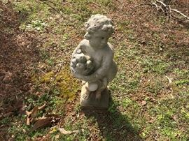Cherub concrete statue