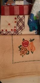 Beautiful hand-embroidered Linens