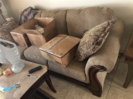 Pruitts sofa and loveseat