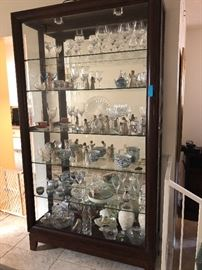Lots of crystal, porcelain, china , Willow, collectibles.