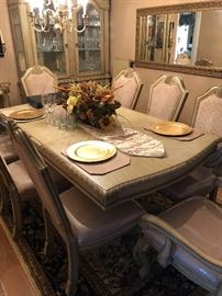 Dining room table with (8) chairs like new