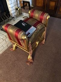 Silk stool with matching pillow