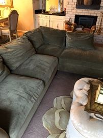 Taupe colored sectional