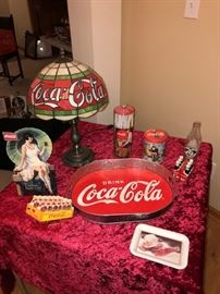 Only part of many Coca Cola collectibles