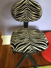 Leopard print desk chair