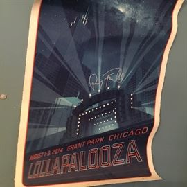Perry Ferral originator of Lollapalooza signed poster