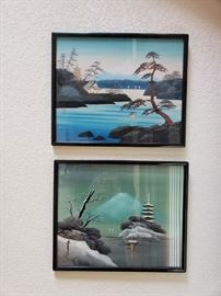 Vintage Japanese woodblock prints.