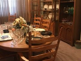 Oak Dining Table, China Cabinets