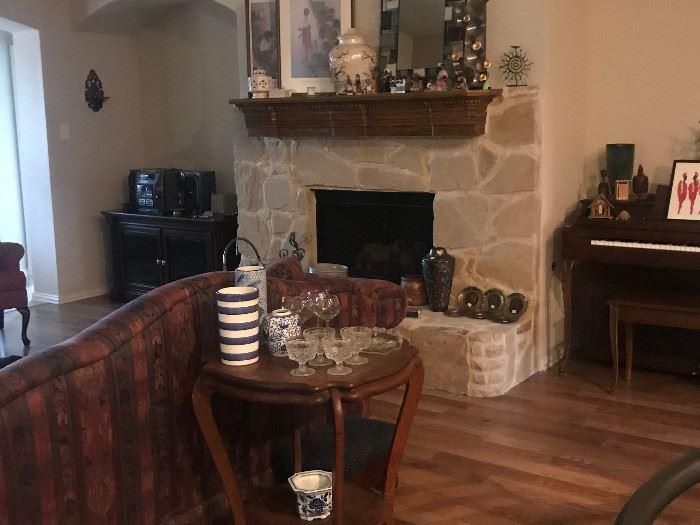 Antique Oak Table, Decoratives