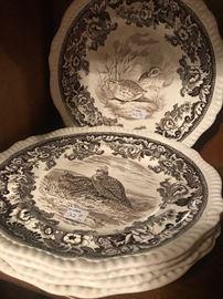 """Copeland Spode England """"California Quail"""" Plates"""