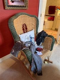 wicker rocker chair