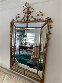 Large and beautiful beveled glass mirror