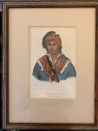 Antique hand colored lithographs from Indian Tribes of North America