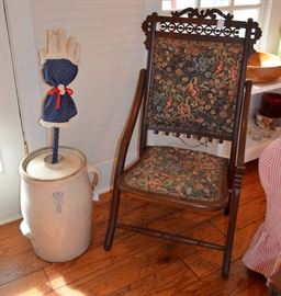 Victorian Eastlake folding chair