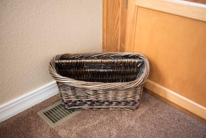 Wicker Magazine Basket