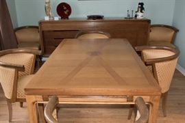 1976 Edmond Spence Coronation Line Dining Table and Chairs