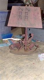 metal Cowboy Lamp