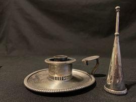 19th Century John Stone Candle Holder