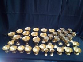 009 brass goblets and bowls