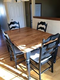 Bermex table and 4 chairs plus 1 leaf 59x 40 Leaf is 20