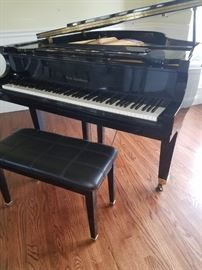 BALDWIN  C172 BABY GRAND PIANO GLOSSY EBONY 1996