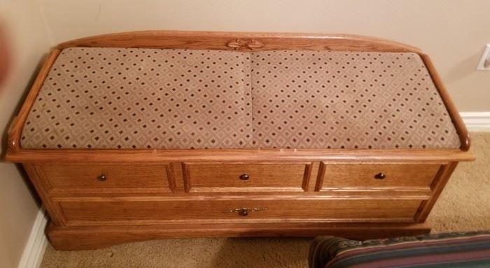 Cedar lined blanket chest