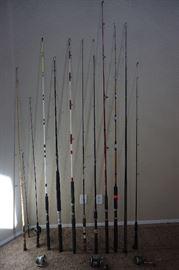 FISHING POLES, REELS AND EQUIPMENT