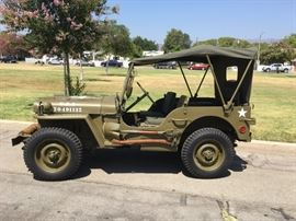 This is the gem of the sale  a fully restored 1943 ford Willy's jeep w and all marked Ford parts .This is a sealed bid item