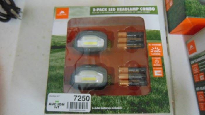 2 pack of LED Headlight flashlights w batteries
