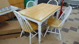 wood table w four chairs