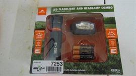 LED flashlight and headlamp combo