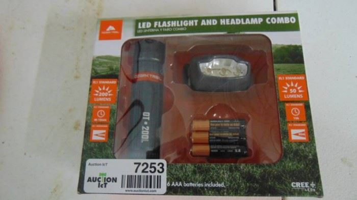 LED flashlight and headlamp combo