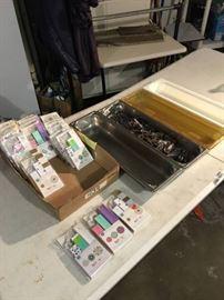 4 Trays 2 Plastic 2 SS, Paper Fans, Screwdrivers