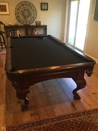 Vitalie Gore Gulch Collection Chippendale Pool Table with cue sticks, and balls.  In perfect condition!  $1,600 or best offer.