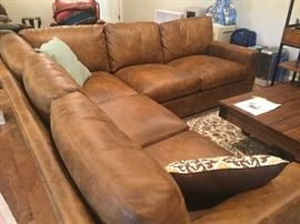 Whittemore Sherrill Leather Sectional Sofa $1,800