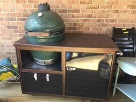 Big Green Egg 2 years old - used 5 times!   Copper cart with all accessories.  $2,100.  Copper cart was $2,000 new