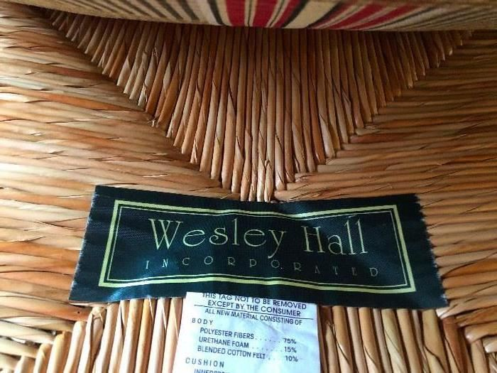 Wesley Hall furniture. We got nothin' but quality here. folks!
