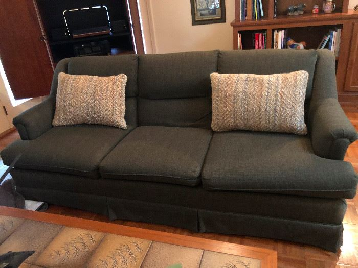 This sofa is in impeccable condition.