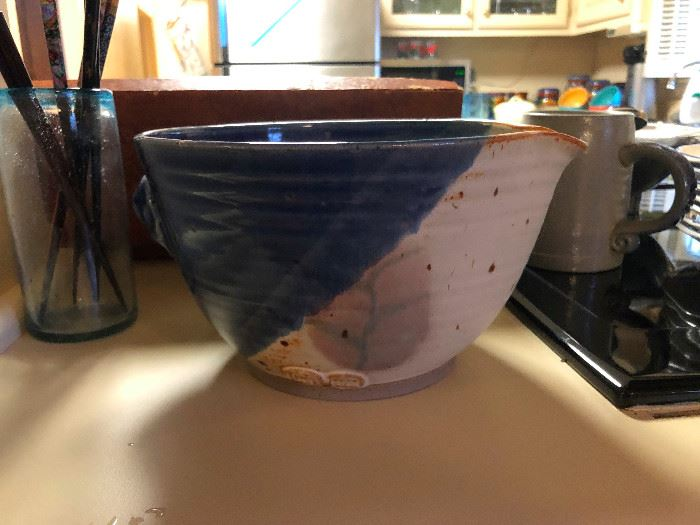 Why have an ordinary mixing bowl when you can have an original Georgia folk art pottery mixing bowl?
