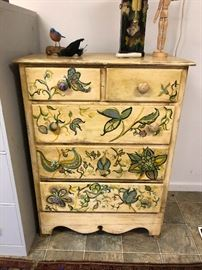 Hand painted chest of drawers (beautiful)