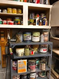 Paint, paint thinner, glue, garage goop -- all stuff you can't live without!