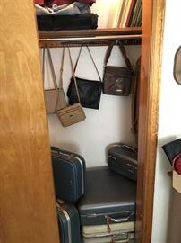 Vintage Luggage, Some Ladies Purses........