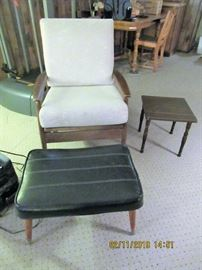MCM ROCKER CHAIR, HAS SPRINGS mfg, if Vito Baumritter.