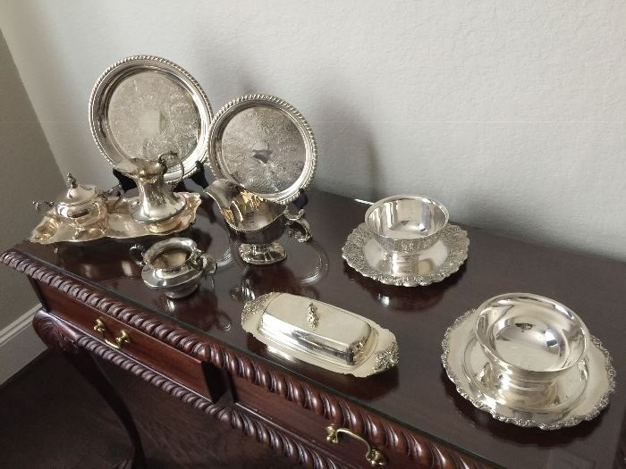 Good selection of silver plated pieces