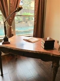 Gorgeous carved wood writing desk