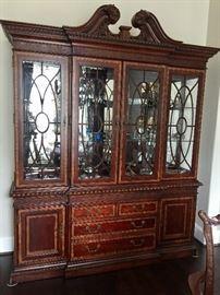 Stunning mahogany china cabinet