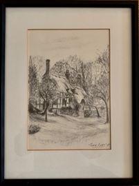 Print of Cottage by John Burt